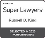 Super lawyers russell D king selected in 2020 thomson reuters