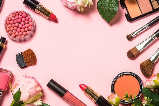 makeup-professional-cosmetics-on-pink-ba