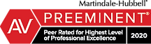 Martindale-hubbell preeminent peer rated for highest level of professional excellence 2020