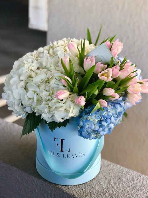 Pastel Palette! Hydrangeas & Tulips