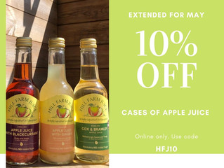 What is happening at Hill Farm Juice for May?