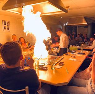 Flame on hotplate