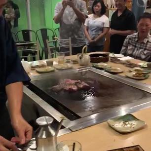 lighting up teppanyaki hotplate