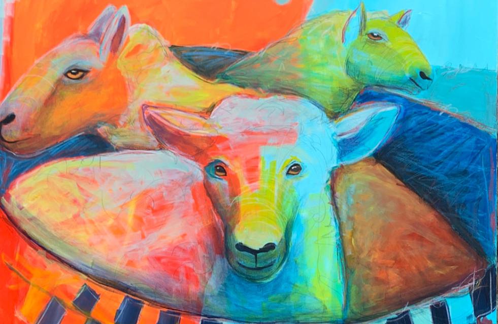 Rub a dub dub, Three Sheep in a Tub