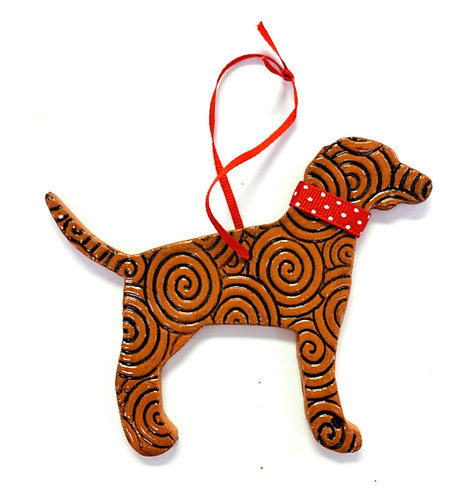 Ceramic Dog Ornament