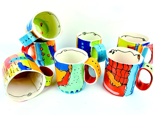 Ceramic Whimsy Mugs
