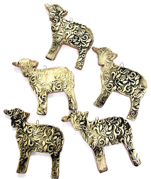 Ceramic Lamb Ornament