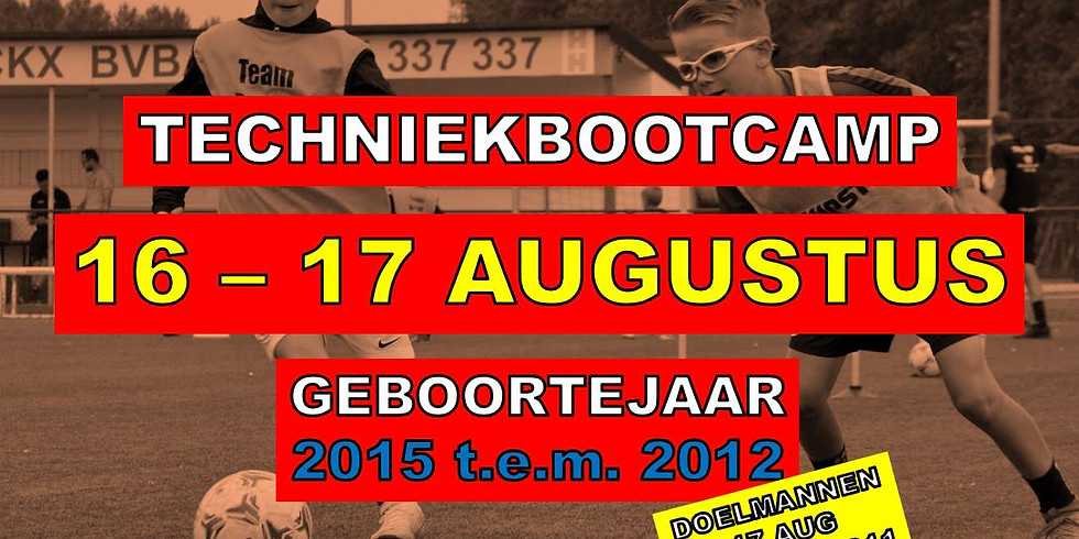 TECHNIEKBOOTCAMP 16 & 17 AUGUSTUS 2021
