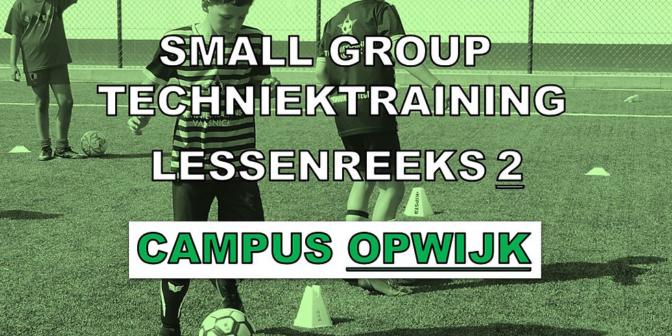 SMALL GROUP TECHNIEKTRAININGEN - CAMPUS OPWIJK
