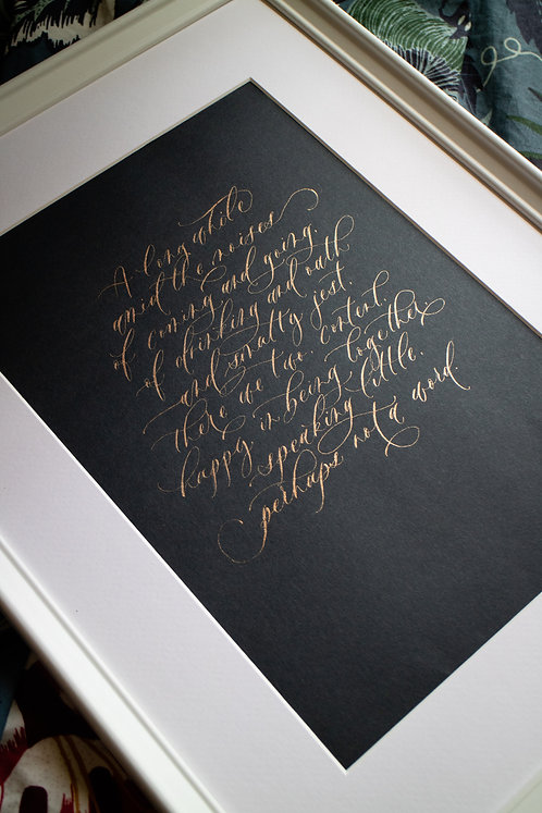 A Glimpse - Walt Whitman (A4)