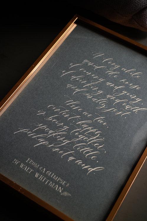 A Glimpse - Walt Whitman (A5)