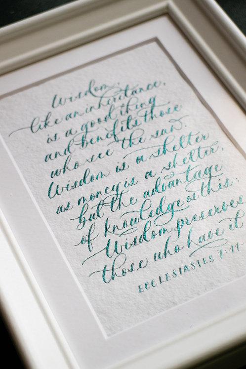 Essence of Wisdom - Ecclesiastes 7:11-12