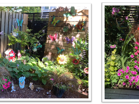 Garden Art and Visitors