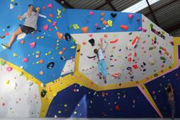 Overhanging climbing