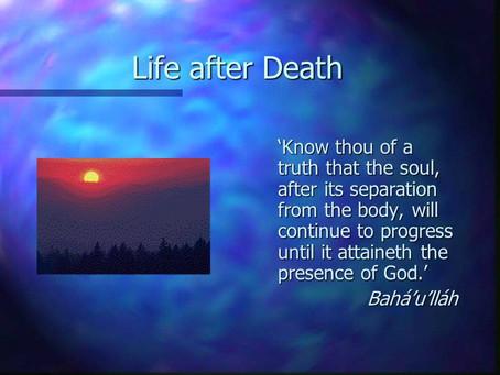 012. Death; a Messenger of Joy.