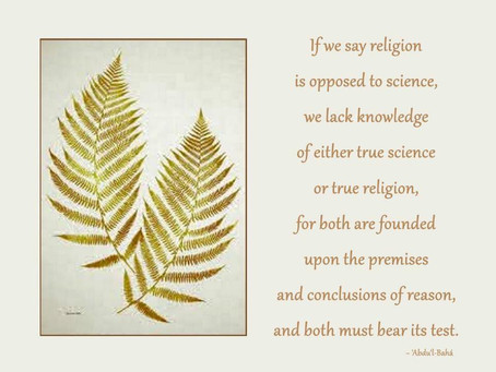 014. RELIGION: IN HARMONY WITH SCIENCE?