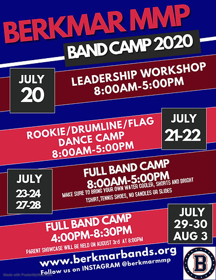 BAND CAMP FLYER - Made with PosterMyWall