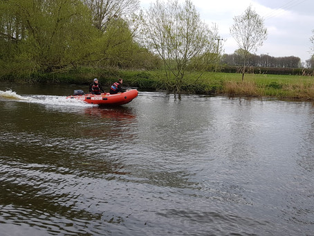 South Worcester Lifeguards assist with Pershore Duck Race 2019.