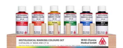 Histological  6-Marking-Colours Set