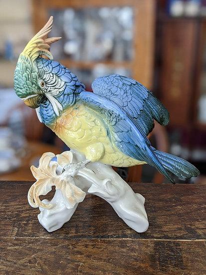 KARL ENS Volkstedt Porcelain Figurine Bird - PARROT 7337