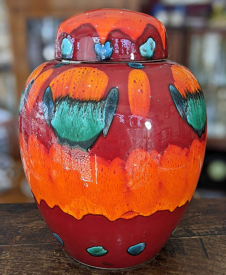 Large Poole Pottery Volcano Ginger Jar