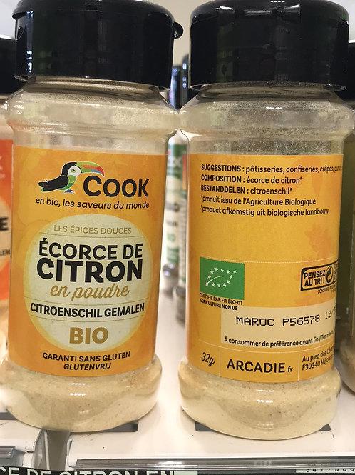 Écorce de citron en poudre 32g