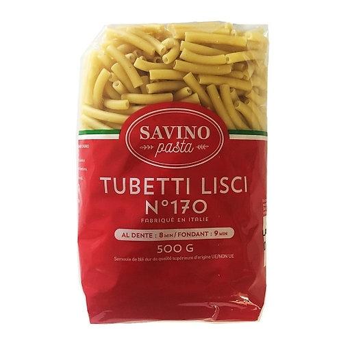 Pâtes Tubetti Lisci n°170 pqt 500g Savino Pasta