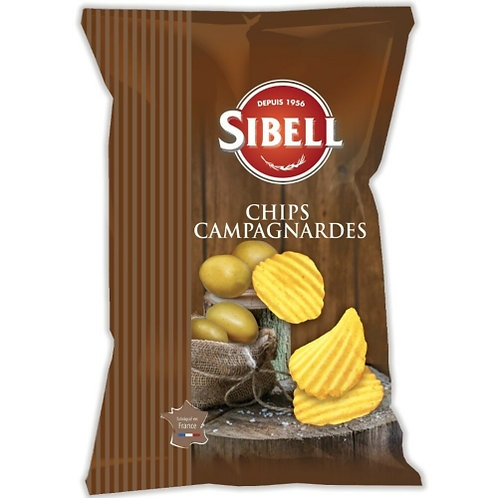 Chips campagnardes. paquet 135g Sibell