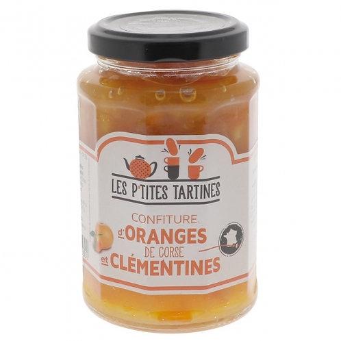 Confiture clémentines-oranges de Corse. pot 315g