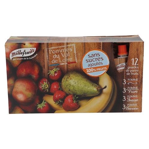 12 Gourdes de purée de fruits 12x90g