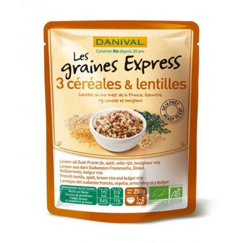 Lentilles épeautre riz complet et boulgours 250g