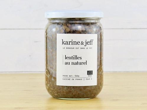 Lentille au naturel 540g