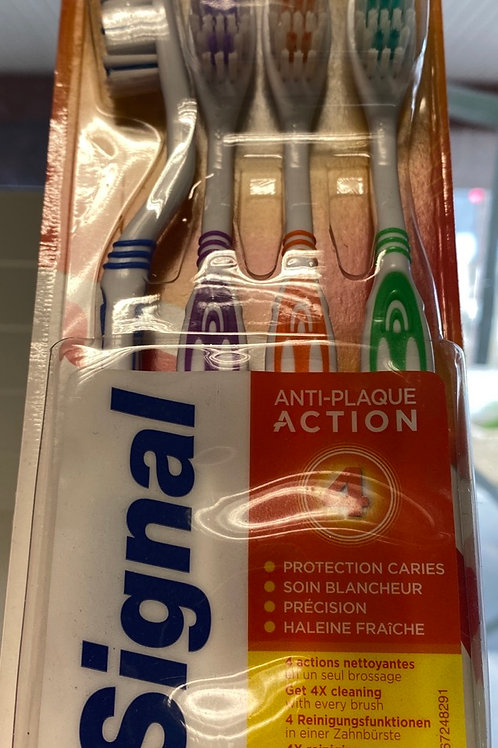 Lot de 4 brosse à dents signal Médium