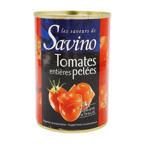 Tomates entières pelées boite 240g Savino