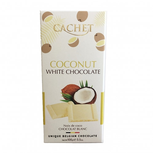 Chocolat blanc coco. tablette 100g