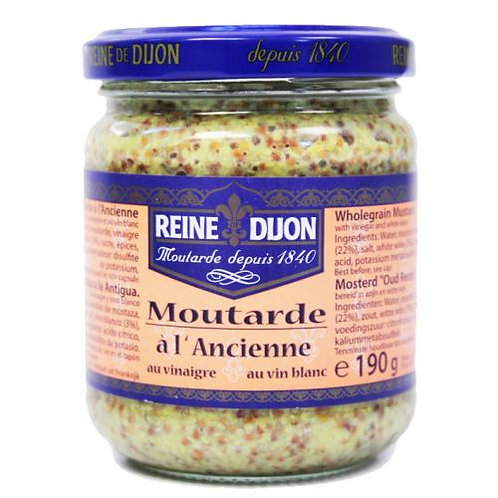 Moutarde à l'ancienne . pot 190g Reine de Dijon