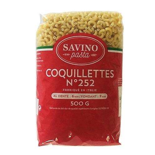 Pâtes Coquillettes n°252. pqt 500g Savino Pasta