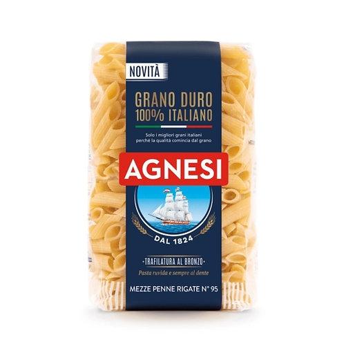 Pâtes Mezze Penne Rigate n°95 paquet 500g Agnesi