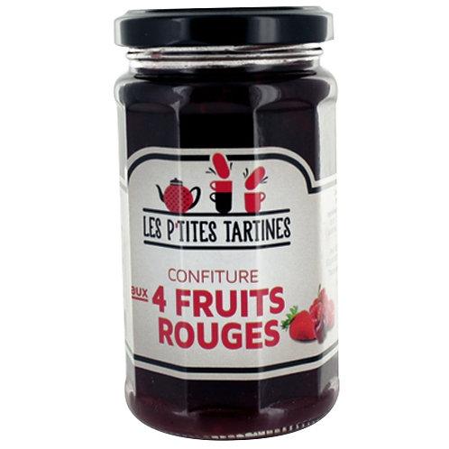 Confiture 4 fruits rouges. pot 265g