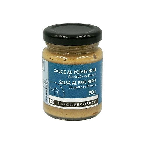 Sauce au poivre noir . bocal 90g Marcel Recorbet