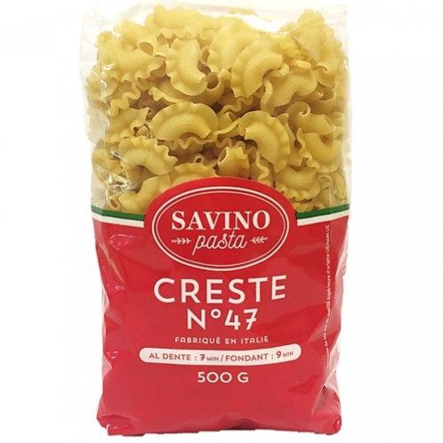 Pâtes Creste n°47. pqt 500g Savino Pasta