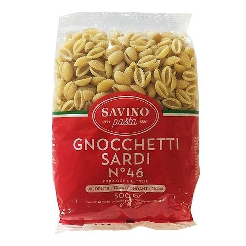 Pâtes Gnoccheti Sardi n°46 pqt 500g Savino Pasta