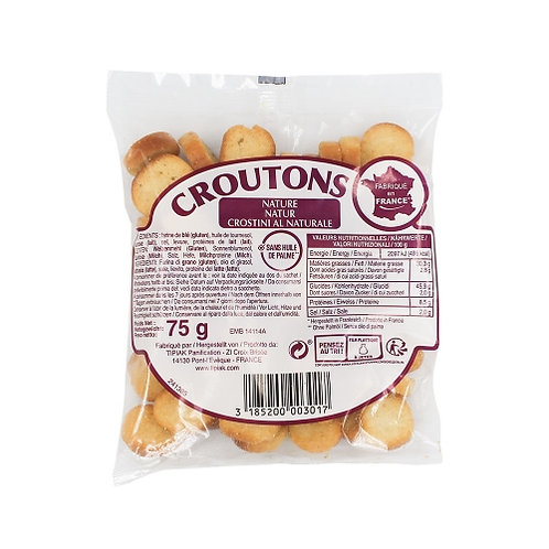 Croûtons nature. paquet 75g