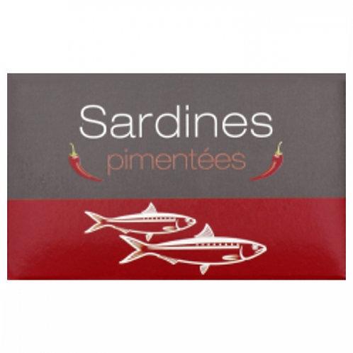Sardines pimentées Maroc. conserve 125g