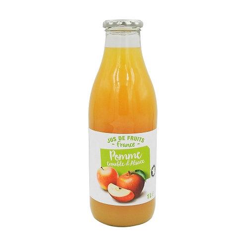 Pur jus de pomme trouble d'Alsace bouteille 1L