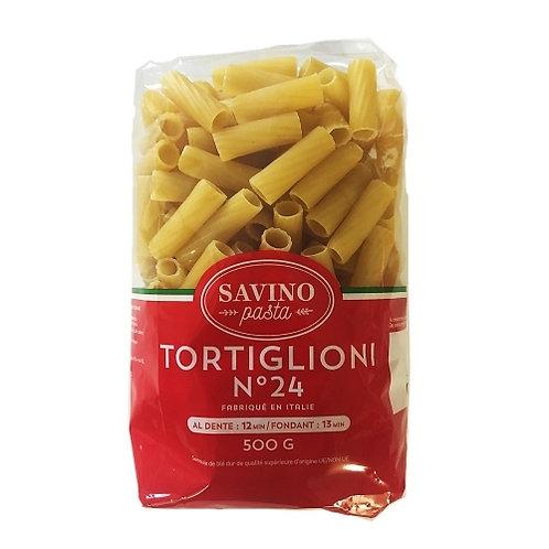 Pâtes Tortiglioni n°24 pqt 500g Savino Pasta
