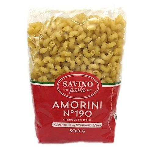 Pâtes Amorini n°190 pqt 500g Savino Pasta