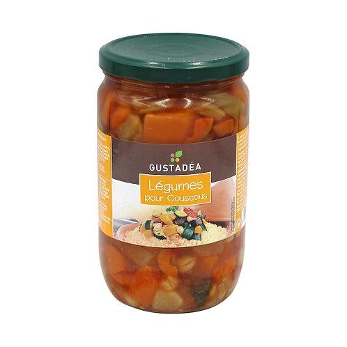 Légumes pour couscous. bocal 660g Gustadéa