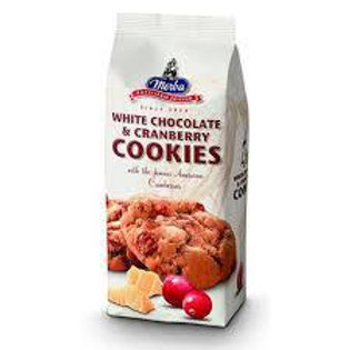 Cookies chocolat blanc & cranberries. paquet 200g