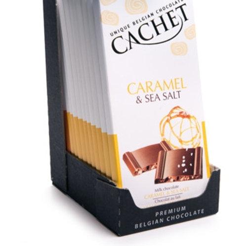 Chocolat lait caramel/fleur de sel. tablette 100g